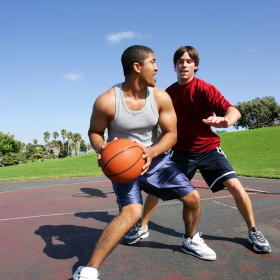 Basketball is a sport that can be played one-on-one, or with a group of people.