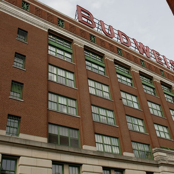 The Budweiser brewery in St. Louis