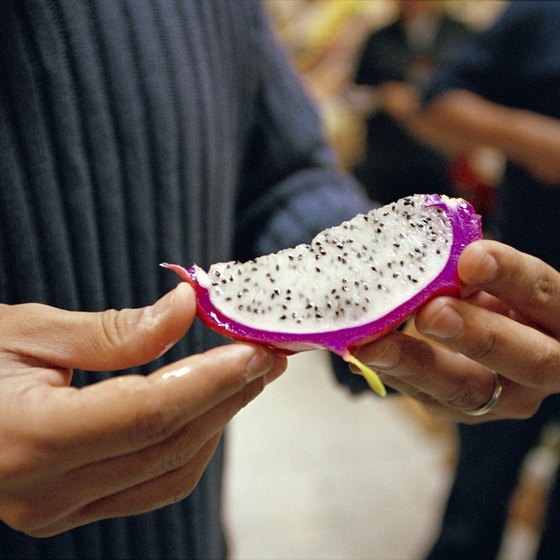 Cactus fruits are ubiquitous in Mexican produce markets.