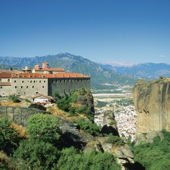 St. Stephen's Monastery balances upon the cliffs at Meteora.