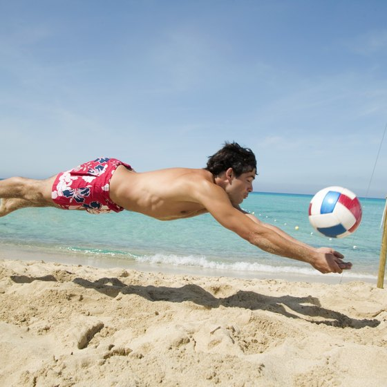 Volleyball can produce sore legs for both novice and veteran players.