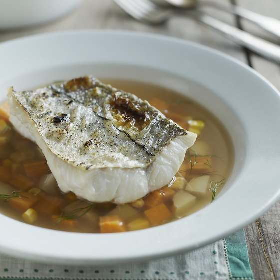Broiled haddock can be part of a healthy diet.
