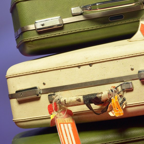 Many suitcases are too large to count as carry-on bags.