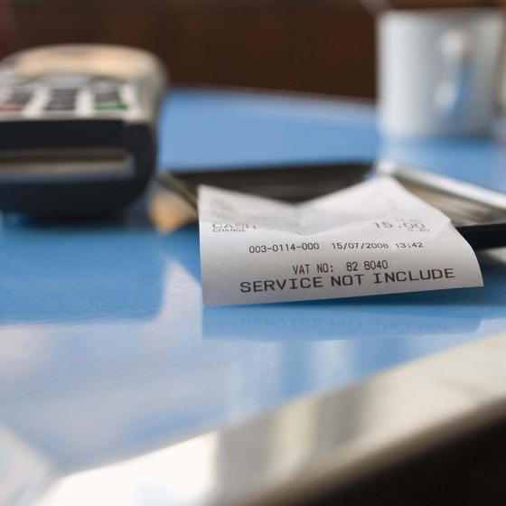 Sales tax and gratuity are standard for most restaurants.