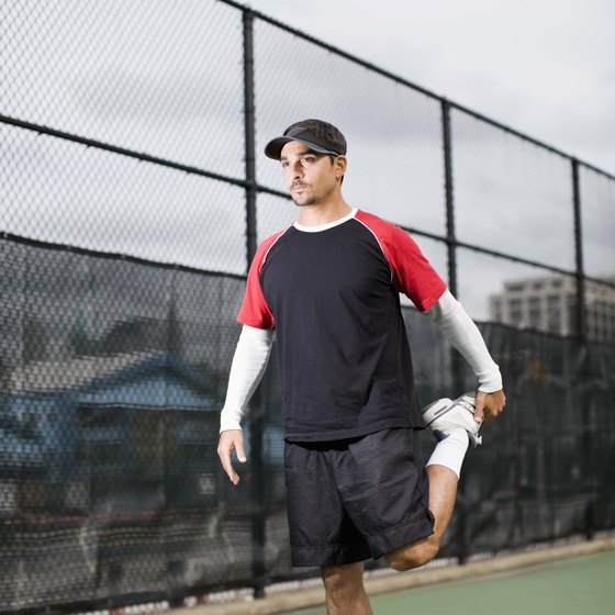 Stretching warm muscles before a tennis session can minimize injury risk.