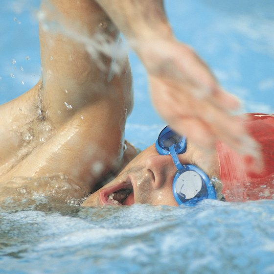 """The freestyle or """"crawl"""" stroke requires you to turn from side to side to breathe."""