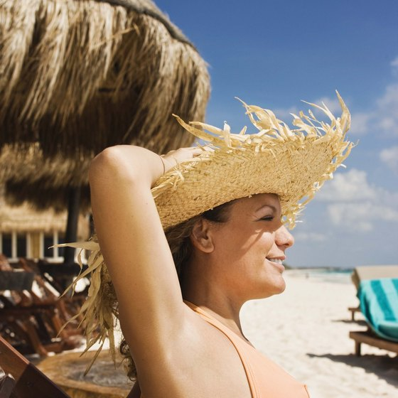 Don't forget your sun hat -- requisite beach gear in Mexico.