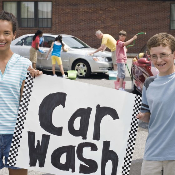 Car washes and other events are popular ways for charities to make money.