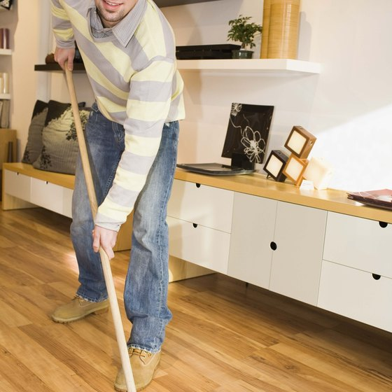 A push broom works your muscles differently than a standard broom.