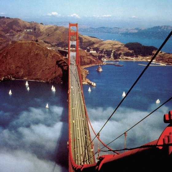 Two suspension towers of the Golden Gate Bridge are 746 feet tall.