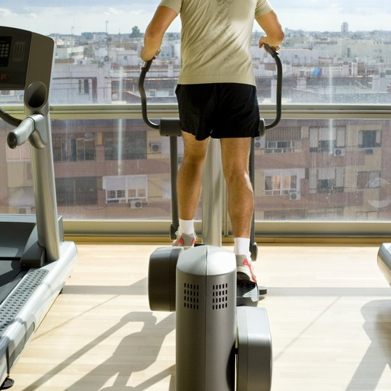 The elliptical provides a calorie-burning cardio workout.
