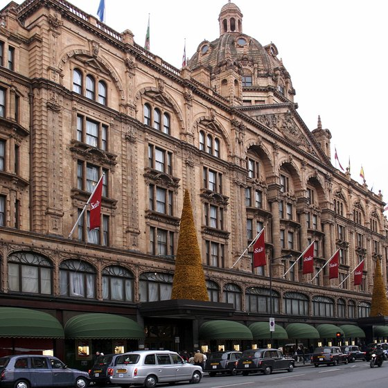 Harrods is a fashionable London landmark, where winter and summer sales attract crowds of shoppers.