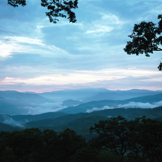 The Great Smoky Mountains offer campgrounds with cabins.