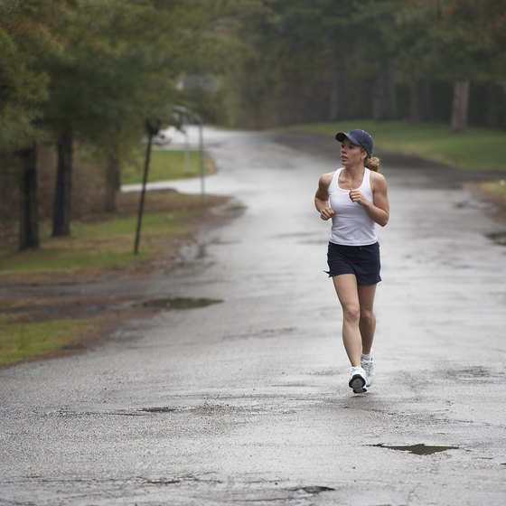 Working out in the rain is not the cause of illness.
