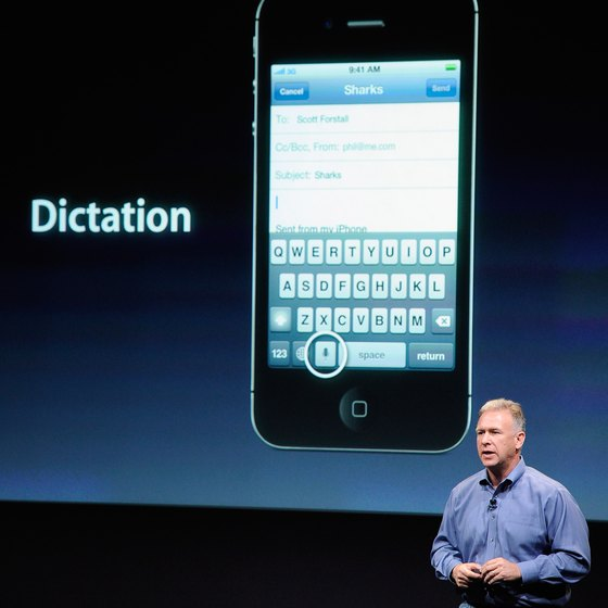 Dictation is only available on the iPhone 4S and later.