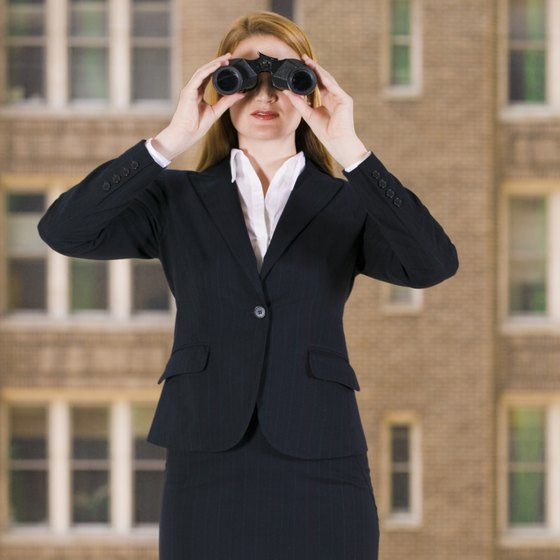 A business owner keeps a sharp eye on company performance.