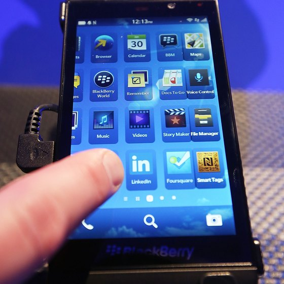 Hackers can access personal BlackBerry information through apps.