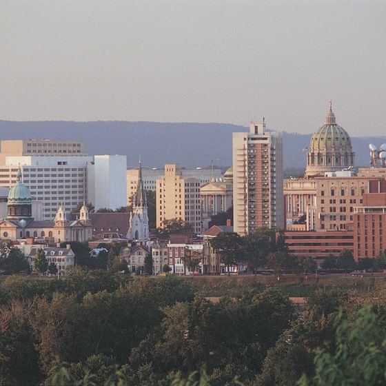 Harrisburg, the capital of Pennsylania, lies along Interstate 81.