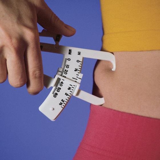 Skinfold calipers can provide a rough estimate of an athlete's fat percentage.