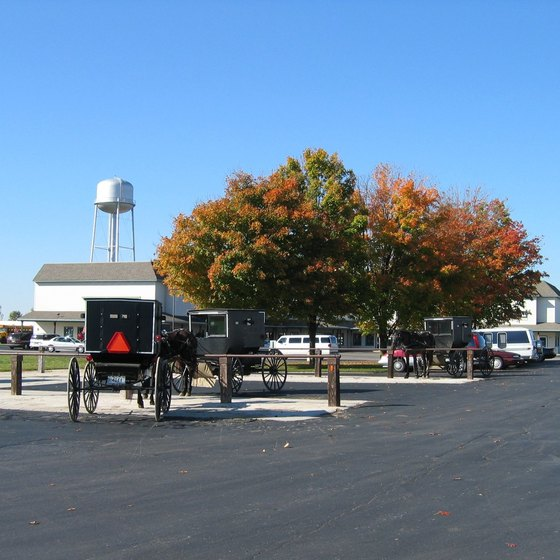 Shipshewana is home to a thriving Amish community.