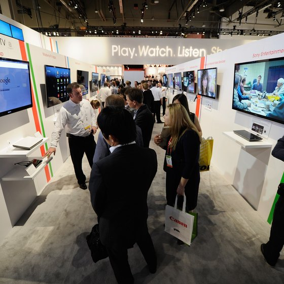 Liven up a trade show booth by showing a looping presentation on a TV.