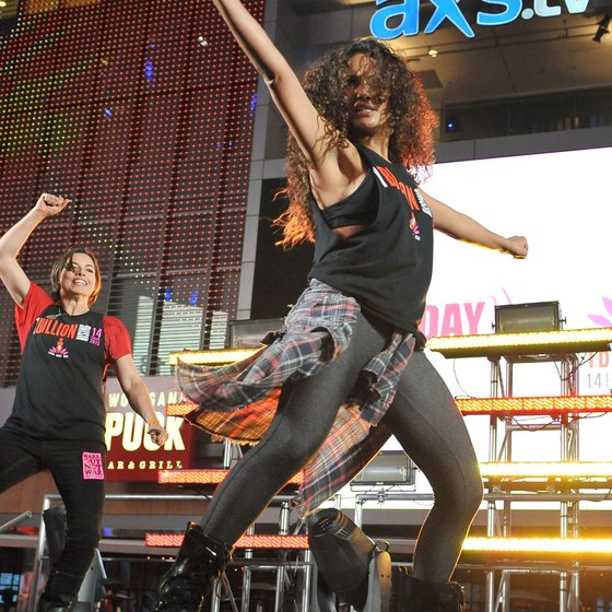 Wild clothing is part and parcel of the Zumba experience -- but it's not obligatory.