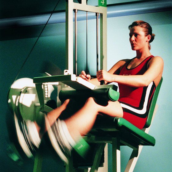 Seated leg curls target your hamstrings.