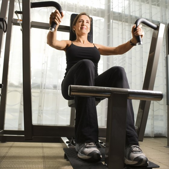 A chest press machine is an example of a pushing exercise.