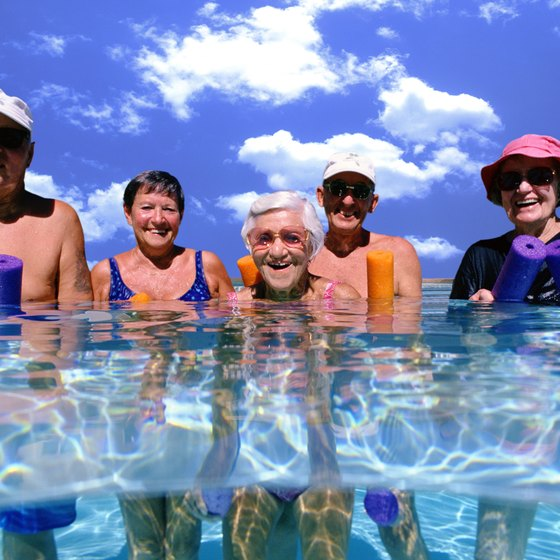 Water aerobics can help your rebuild muscle no matter your age.