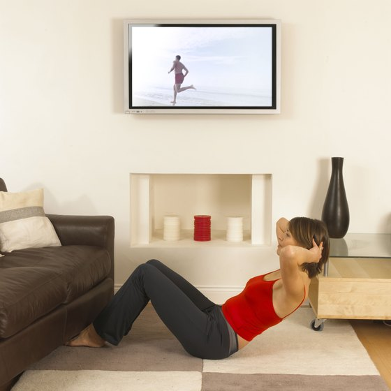 Squeeze in an intense workout while you're watching your favorite TV show.