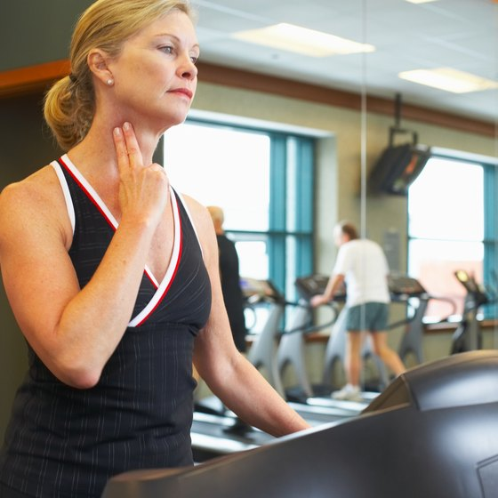 Stay in your target zone by checking your heart rate while exercising.