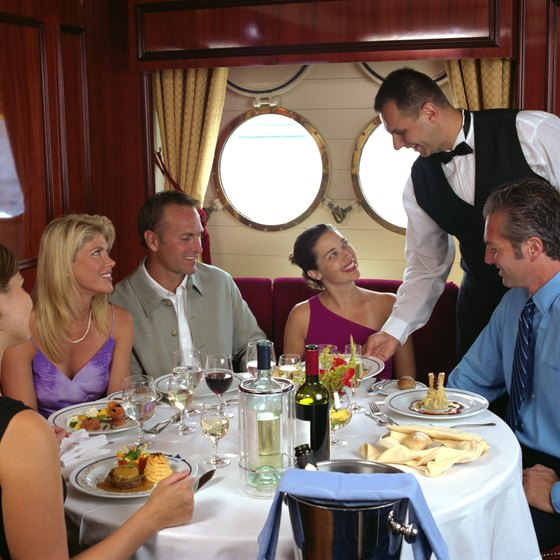 Fine dining is often a part of the cruise experience.