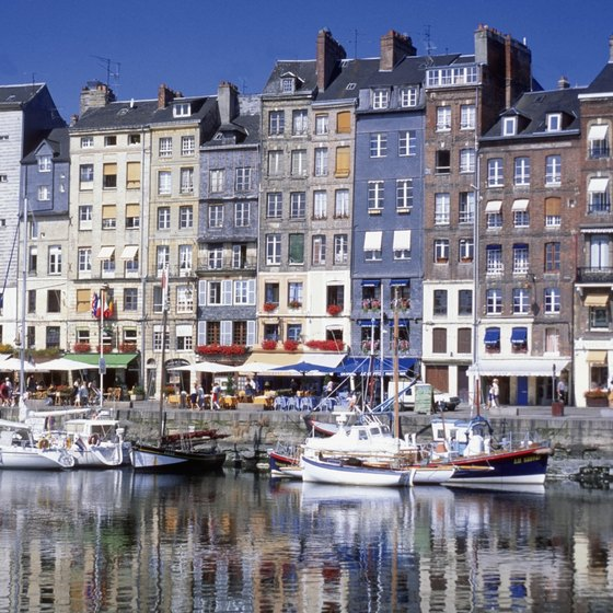 Honfleur is a popular and pretty French fishing village in Normandy, France.