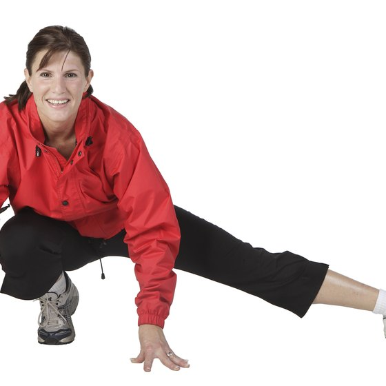Stretching before you exercise may help reduce your risk of injury.