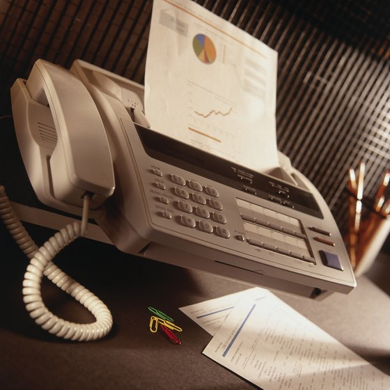 Mac's built-in fax program eliminates the need for a fax machine.
