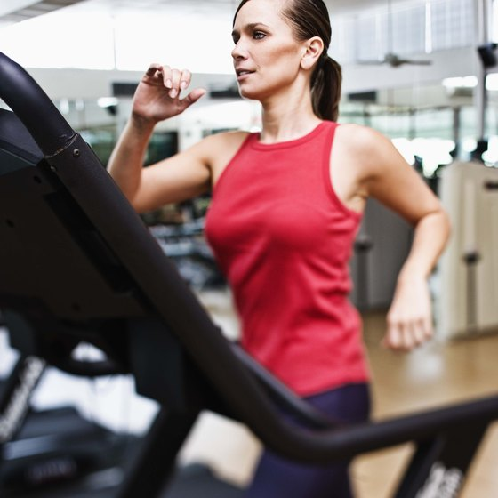Complete each interval workout by walking or running on a treadmill.