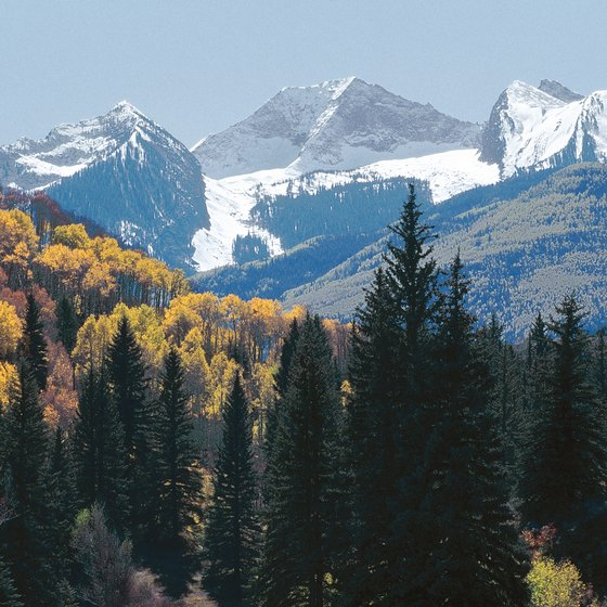 The Rocky Mountains dominate Colorado's scenery.