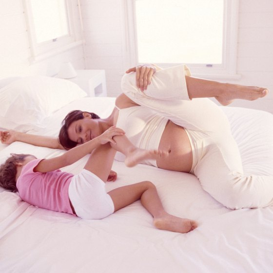 Side-lying adductor exercises can be more comfortable for pregnant women.