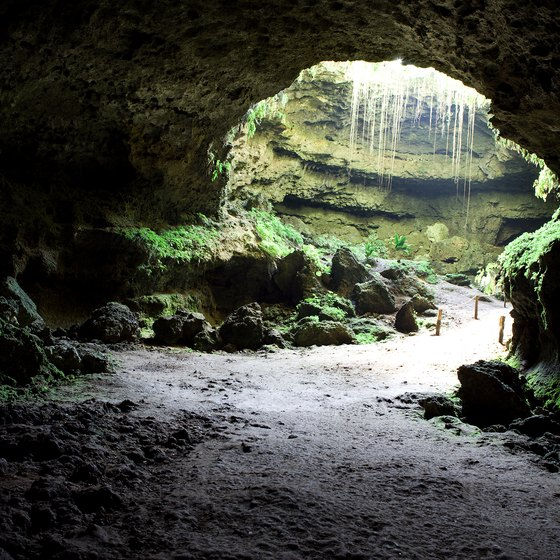Many Alabama caves were formed by water.