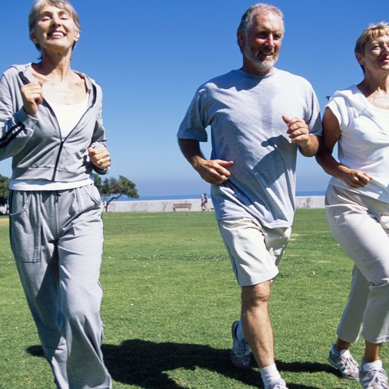 Jogging is a convenient way to burn calories.