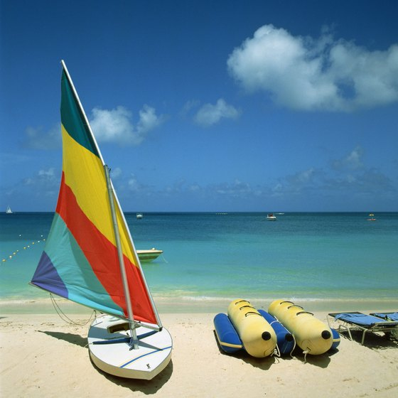 The Sunfish, among other dinghies, is ubiquitous in the Caribbean.