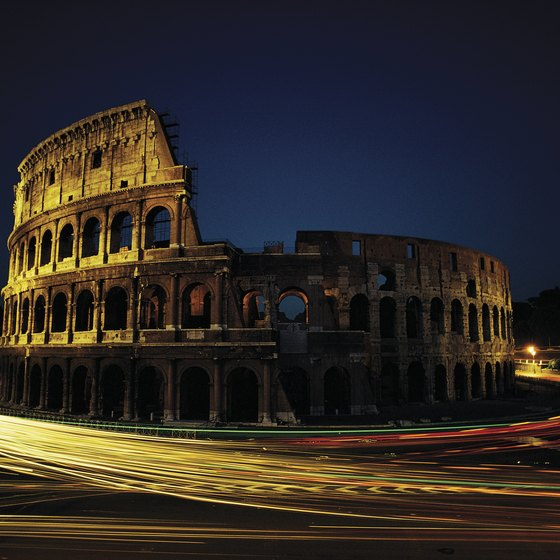 The Roman Colosseum is one of many iconic Italian landmarks.