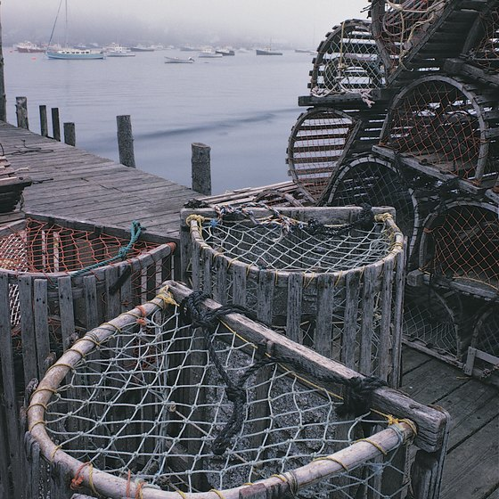 Maine is known for its lobster fishing industry.