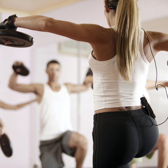 Doing aerobics while holding weights can harm your joints.
