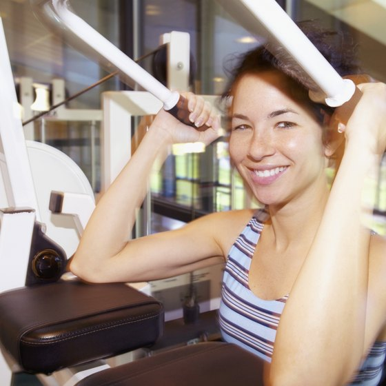 Exercise machines help you to learn proper form and technique.
