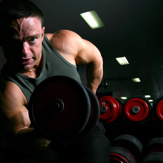 Train your arms and shoulders together for great gains.