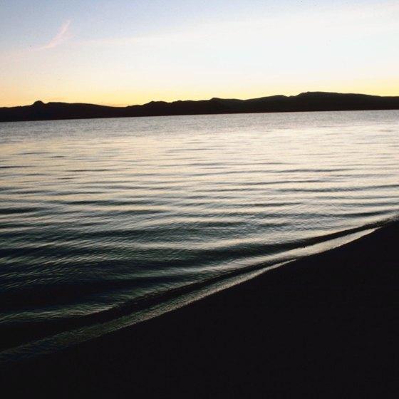 A quiet beach at Pyramid Lake, Nevada.