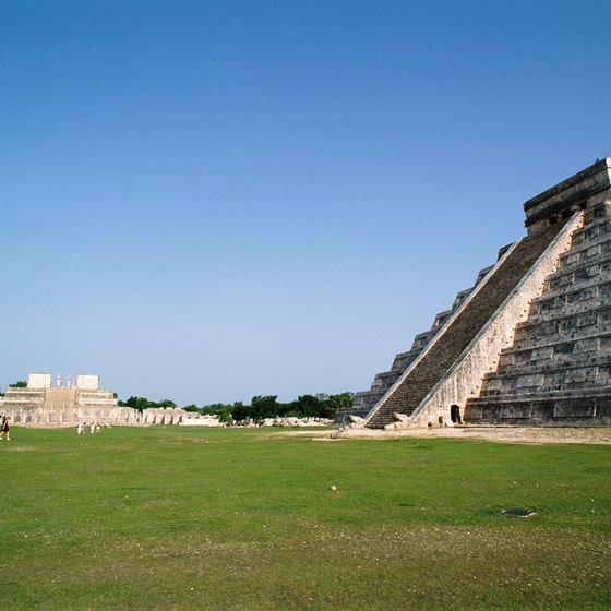 The ruins of Chichen Itza are an easy bus ride away from Cancun.
