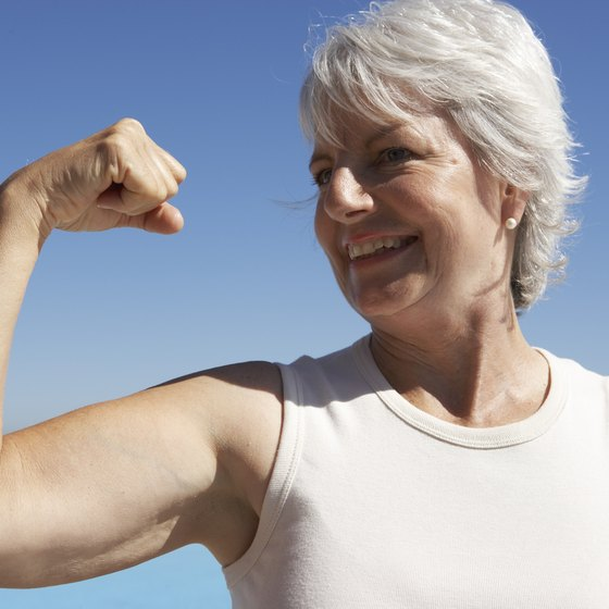 Upper-arm exercises and a weight-loss plan can firm flabby arms.