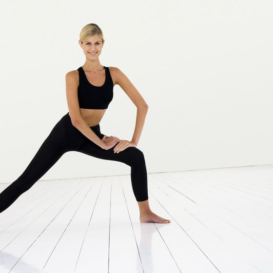 The side lunge is an effective exercise for your glutes and thighs.